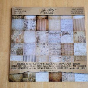NEW Tim Holtz idea-ology 12x12 French Industrial